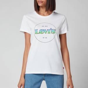 Levi's Women's The Perfect T-Shirt - Circle Logo Gradient White