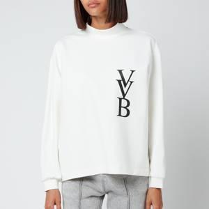 Victoria, Victoria Beckham Women's 3D Logo Ponti Jersey Sweatshirt - Ivory
