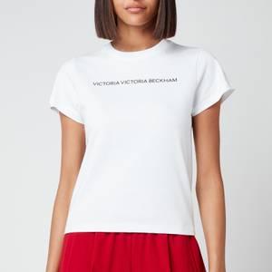 Victoria, Victoria Beckham Women's Slim Fit Logo T-Shirt - White