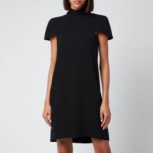 Victoria, Victoria Beckham Women's Cape Detail Soft Crepe Dress - Black
