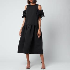 Victoria, Victoria Beckham Women's Gathered Detail Cold Shoulder Dress - Black
