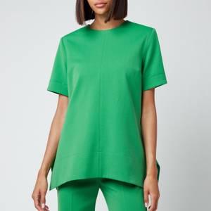 Victoria, Victoria Beckham Women's Short Sleeve Lightweight Stretch Top - Foliage Green