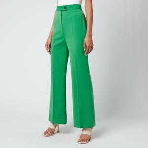 Victoria, Victoria Beckham Women's High Waist Cropped Lightweight Stretch Trouser - Foliage Green