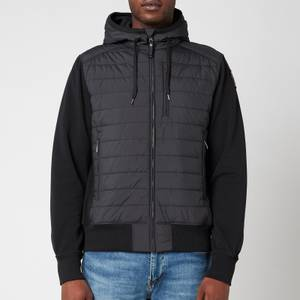 Parajumpers Men's Ivor Padded Front Hoodie - Black