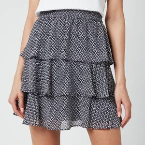 MICHAEL Michael Kors Women's Mini Floral Flirty Skirt - Midnight Blue