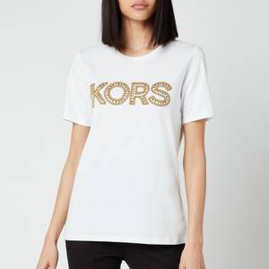 MICHAEL Michael Kors Women's Kors Studded Classic T-Shirt - White