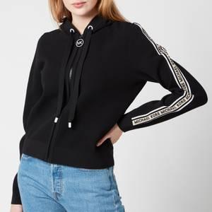 MICHAEL Michael Kors Women's Logo Zip Hoodie - Black