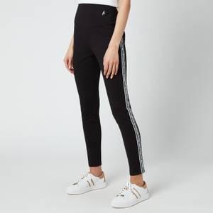 MICHAEL Michael Kors Women's Mk Stripe Tape Leggings - Black