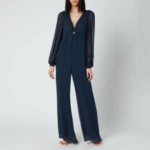 MICHAEL Michael Kors Women's Perfection Dots Jumpsuit - Midnight Blue/White