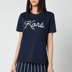 MICHAEL Michael Kors Women's Kors Rope Graphic T-Shirt - Midnight Blue