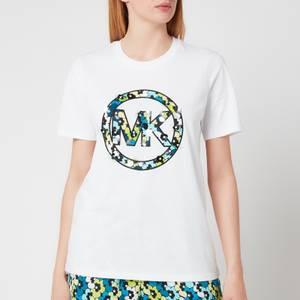 MICHAEL Michael Kors Women's Sequin Clusters Logo T-Shirt - White
