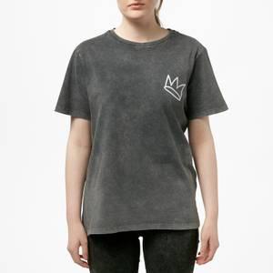 Riverdale Jughead Wuz Here Unisex T-Shirt - Black Acid Wash