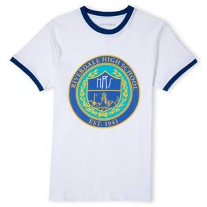 Riverdale Riverdale High Unisex Ringer T-Shirt - White / Blue