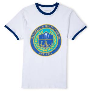 Riverdale Riverdale High Unisex Ringer T-Shirt - White / Blue