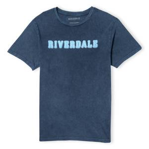 Riverdale Riverdale Logo Unisex T-Shirt - Navy Acid Wash