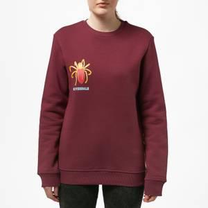 Riverdale Cheryl Blossom Broach Unisex Sweatshirt - Burgundy