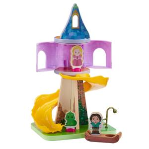Disney Princess - Wooden Rapunzel's Tower and Figure Playset