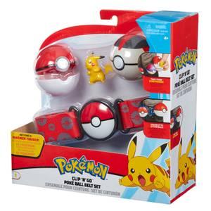 Pokémon Clip 'N' Go Pikachu Poke Ball Belt Set