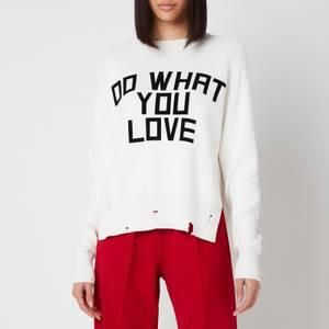 Golden Goose Women's Delilah Flock Print Sweatshirt - Pristine