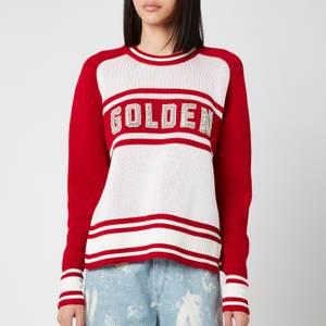 Golden Goose Women's Dianne Stripes Sweatshirt - Red/White