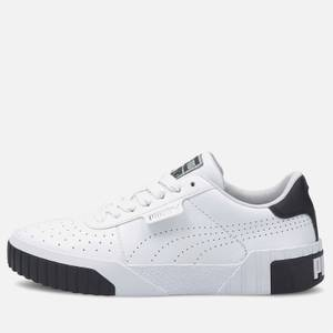 Puma Women's Cali Perforated Leather Trainers - Puma White/Puma Black/Puma Silver