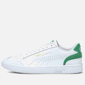 Puma Men's Ralph Sampson Lo Perforated Colourblock Trainers - Puma White/Amazon Green