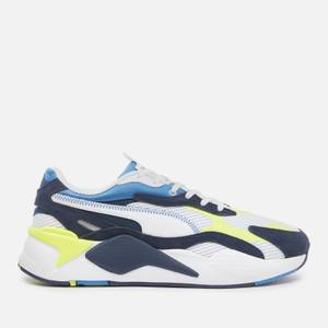 Puma Men's Rs X3 Twill Airmes Running Style Trainers - Puma White/Peacoat