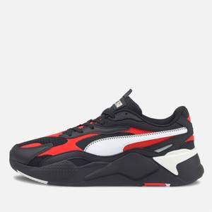 Puma Men's Rs X3 Hard Drive Running Style Trainers - Puma Black/Poppy Red