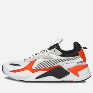 Puma Men's Rs-X Mix Running Style Trainers - Puma White/Tigerlily