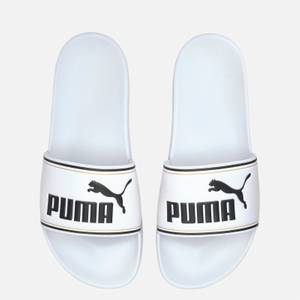 Puma Men's Leadcat Slide Sandals - Puma White/Puma Team Gold/Puma Black