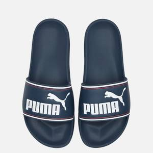 Puma Men's Leadcat Slide Sandals - Dark Denim/Puma White/High Risk Red
