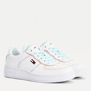 Tommy Jeans Women's Meg Zion Leather Basket Trainers - White/Colour Pop