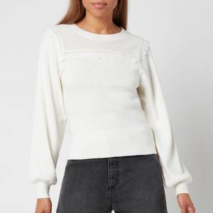 See By ChloéWomen's Puff Sleeve Knitted Jumper - White