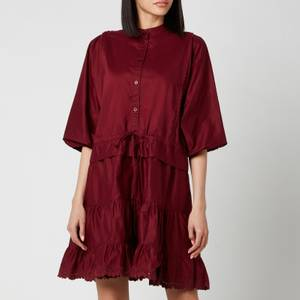 See By ChloéWomen's Tie Waist Shirt Dress - Smoked Red