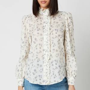 See By ChloéWomen's Floral Printed Blouse - White Grey
