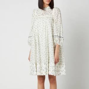 See By ChloéWomen's Floral Print Dress - White Grey