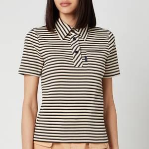 See By ChloéWomen's Stripe Polo Top - White Beige