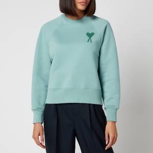 AMI Women's De Coeur Sweatshirt - Green