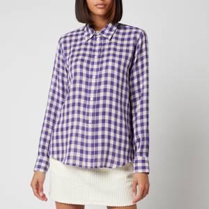 AMI Women's Classic Gingham Shirt - Violet