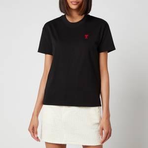 AMI Women's De Coeur T Shirt - Noir
