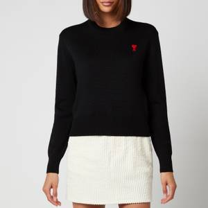 AMI Women's De Coeur Sweater - Noir