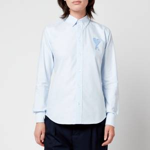 AMI Women's Oxford AMI De Coeur Shirt - Oxford Blue