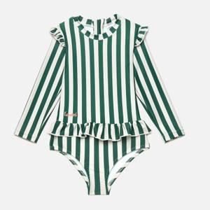 Liewood Girls' Sille Swim Jumpsuit - Garden Green/Sandy