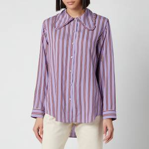PS Paul Smith Women's Exaggerated Collar Stripe Shirt - Purple