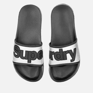 Superdry Women's Eva Pool Slide Sandals - Silver