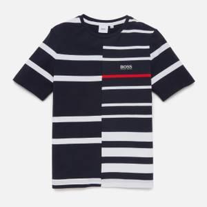 Hugo Boss Boys' Stripe Short Sleeve T-Shirt - Navy