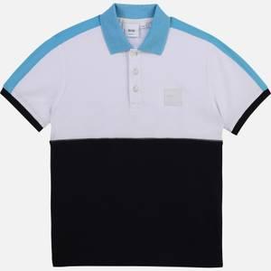Hugo Boss Boys' Block Colour Polo Shirt - Navy