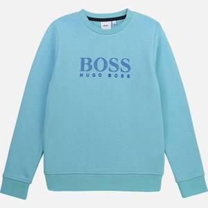 Hugo Boss Boys' Logo Sweatshirt - Sea Green