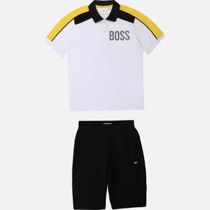 Hugo Boss Boys' Polo Shirt & Bermuda Shorts Set - White