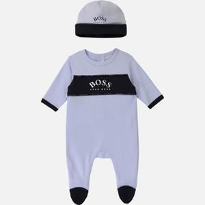 Hugo Boss Baby Boys' Pyjama Babygro & Hat Set - Pale Blue